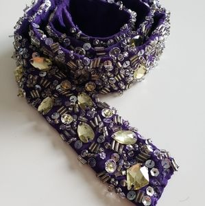 Embellished fabric belt